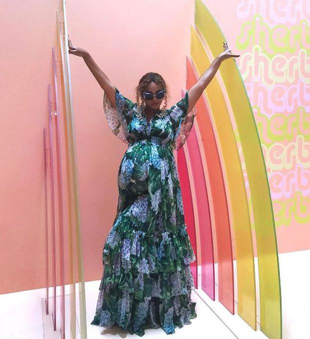Beyonce Celebrated Her Baby Shower With Daughter Blue Ivy Instagram @beyonce