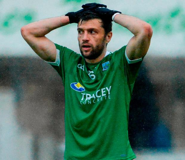 A dejected Ryan McCluskey of Fermanagh. Photo: Oliver McVeigh/Sportsfile
