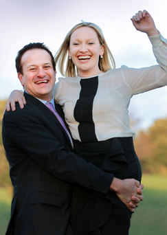 Leo Varadkar and former Fine Gael minister Lucinda Creighton, pictured in 2011, proposed the current weighted system of voting – but the percentage assigned to each section of the electorate was decided by the party's executive council. Picture: Gerry Mooney