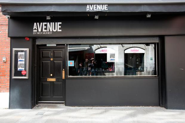 The now closed Avenue restaurant in Crow Street, Templebar which was owned by Nick Munier. Photo: Tony Gavin