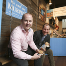 Niall Dorrian CEO of Linked Finance, and Kieran Murphy of Murphy's ice-cream