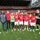 Manchester United's line-up against Crystal Palace was their youngest-ever in the Premier League. Getty