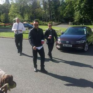 Ant and Dec in Northern Ireland. PIC: Tullylagan House Hotel on Facebook