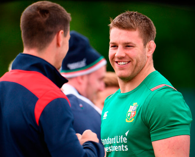 A relaxed looking Seán O'Brien during British & Irish Lions training at Carton House. Photo: Sportsfile