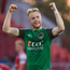 Kevin O'Connor of Cork City celebrates after scoring his side's second and winning goal during the SSE Airtricity League Premier Division match against Sligo Rovers. Photo: Sportsfile
