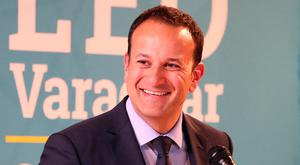 Leo Varadkar at the launch of his Policy Paper at the Smock Alley Theatre in Dublin. Photo: Damien Eagers