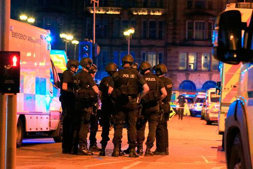 Armed police at Manchester Arena. Photo: PA