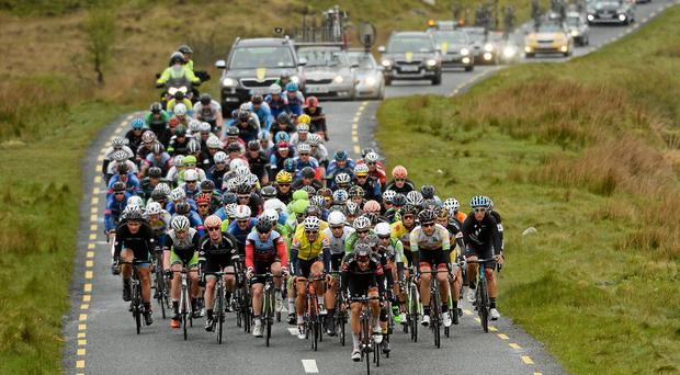 Chris McGlinchey of Cycling Ulster remains best placed of the Irish in seventh place overall, 28 seconds back. Stock photo: SPORTSFILE