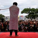 An Indonesian man is publicly caned for having gay sex, in Banda Aceh, Aceh province, Indonesia May 23, 2017. REUTERS/Beawiharta