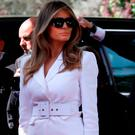 First Lady Melania Trump arrives at the President's Residence in Jerusalem on May 22, 2017. / AFP PHOTO / GALI TIBBONGALI TIBBON/AFP/Getty Images