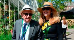 Rupert Murdoch and Jerry Hall attend the press preview of the RHS Chelsea Flower Show at the Royal Hospital Chelsea, London. PRESS ASSOCIATION Photo. Picture date: Monday May 22, 2017. Photo credit should read: Victoria Jones/PA Wire