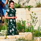 Catherine, Duchess of Cambridge arrives to view the 'M&G Garden 2017' as she visits the RHS Chelsea Flower Show press day at Royal Hospital Chelsea on May 22, 2017 in London, England