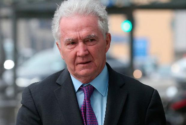 Former Anglo Bank Chairman, Sean Fitzpatrick, after he was acquitted of all charges outside the CCJ court. Picture credit; Damien Eagers