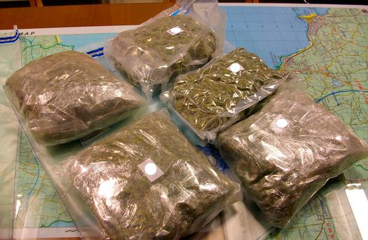 The drugs have an estimated street value of €100,000