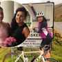 Ciara will attempt a 360km cycle in honour of her sister Tonya (inset) who died in a road accident in February