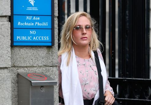 Gayle Killilea, pictured leaving the Four Courts Pic: Collins Courts