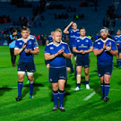 19 May 2017; Leinster players following the Guinness PRO12 Semi-Final match between Leinster and Scarlets at the RDS Arena in Dublin. Photo by Stephen McCarthy/Sportsfile
