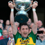 John 'Tweek' Griffin lifts the Christy Ring Cup in his role as Kerry captain Photo: Matt Browne / SPORTSFILE