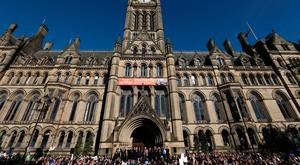 A view of the vigil held for the victims of the Manchester Arena attack Photo: REUTERS/Jon Super