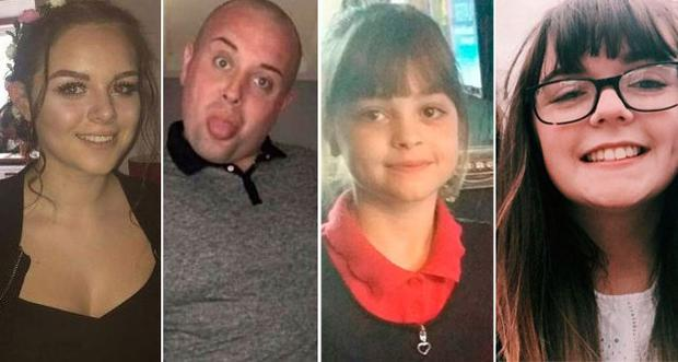 Pictured left to right; Olivia Campbell, John Atkinson, Saffie Rose Roussos, Georgina Bethany Callander
