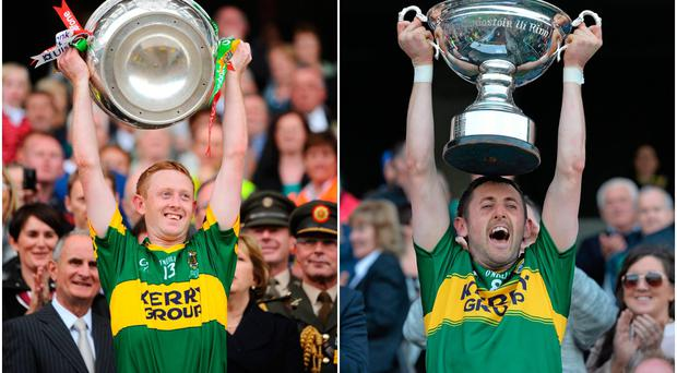 Colm Cooper (left) and John Griffin (right).
