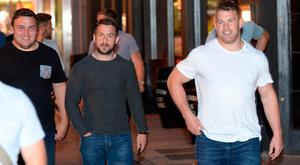 British and Irish Lions players Jamie George, Greg Laidlaw and Sean O'Brien arrive at Keoghs pub in Dublin after a meal in Marco Pierre White in Dublin. Picture: Justin Farrelly