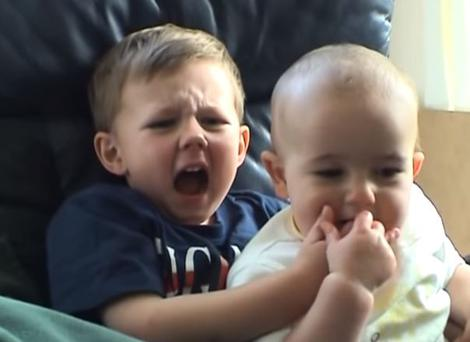 Charlie bit his big brother Harry's finger back in 2007