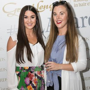 Lynn Kelly and Sarah Hanrahan at the Great Lengths Awards 2017, held in Fade Street Social. Picture: Paul Sherwood