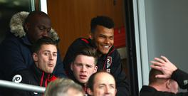 BOURNEMOUTH, ENGLAND - MARCH 11: Tyrone Mings of AFC Bournemouth is seen in the stands during the Premier League match between AFC Bournemouth and West Ham United at Vitality Stadium on March 11, 2017 in Bournemouth, England. (Photo by Jordan Mansfield/Getty Images)