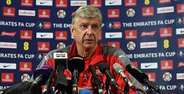 ST ALBANS, ENGLAND - MAY 24: Arsene Wenger the Arsenal Manager during his press conference at London Colney on May 24, 2017 in St Albans, England. (Photo by David Price/Arsenal FC via Getty Images)