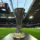 STOCKHOLM, SWEDEN - MAY 23: A view of the UEFA Europa League trophy ahead of the UEFA Europa League Final between Ajax and Manchester United at Friends Arena on May 23, 2017 in Stockholm, Sweden. (Photo by Mike Hewitt/Getty Images)