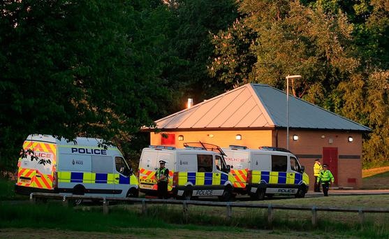 Police at the scene after they raided a block of flats in Blackley, north Manchester, following the attack on Manchester Arena where a suicide bomber killed 22 people leaving a pop concert at the venue on Monday night Credit: Danny Lawson/PA Wire