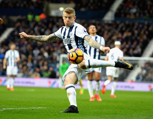 James McClean in action for West Bromwich Albion at The Hawthorns. Photo: Getty Images