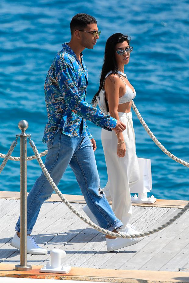 Kourtney Kardashian and Younes Bendjima are spotted during the 70th annual Cannes Film Festival at on May 24, 2017 in Cannes, France. (Photo by Robino Salvatore/GC Images)