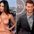 Nicole Scherzinger, left, and Grigor Dimitrov, right