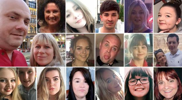 19 of the 22 victims of the Manchester terror attack