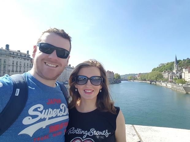 Couple Michael and Niamh travelled through France and Switzerland on their holidays