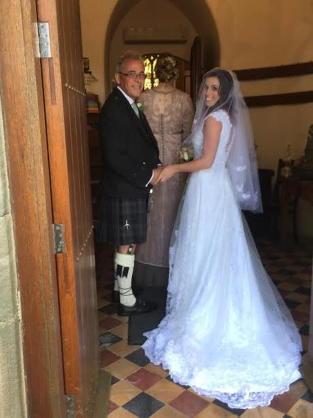 Andrea Kilpatrick walked up the aisle regal style on Saturday 20th May 2017