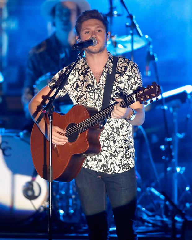 Singer Niall Horan performs on the second night of CBS RADIO's 'SPF' concert at The Boulevard Pool at The Cosmopolitan of Las Vegas on May 20, 2017 in Las Vegas, Nevada. (Photo by Isaac Brekken/Getty Images for CBS Radio Inc. )