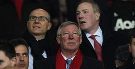 MANCHESTER, ENGLAND - MARCH 16: Sir Alex Ferguson the UEFA Europa League Round of 16, second leg match between Manchester United and FK Rostov at Old Trafford on March 16, 2017 in Manchester, United Kingdom. (Photo by Stu Forster/Getty Images)