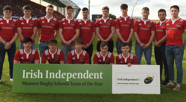 The Irish Independent Munster Schools Team of the Year. Photo: Sportsfile