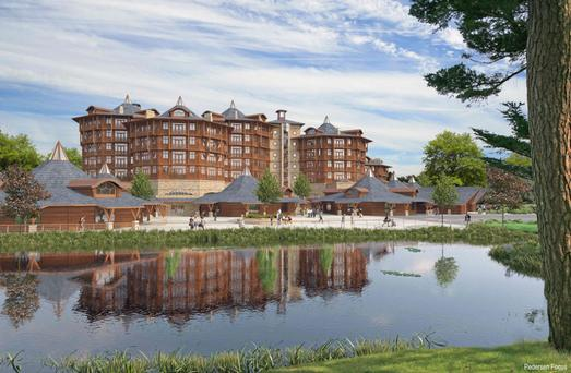 An artist's impression of the Tayto Park hotel