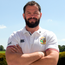 Andy Farrell enjoying the sunshine at Carton House yesterday. Photo: Sportsfile