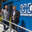 Gordon Hickey, founder of Container Coffee with Fiach Mac Conghail, ceo of the Digital Hub