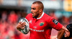 Munster's Simon Zebo. Photo: Diarmuid Greene/Sportsfile