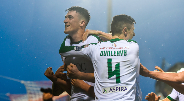 26 May 2017; Ryan Delaney of Cork City celebrates after scoring his side's third goal during the SSE Airtricity League Premier Division match between Cork City and Shamrock Rovers at Turners Cross, in Cork. Photo by Eóin Noonan/Sportsfile