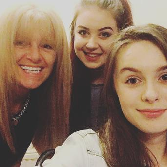 Adrienne Cullen with daughters Yasmine and Saskia. Saskia was at the concert at Manchester Arena when the bomber struck