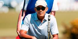 Barack Obama at St Andrews in Scotland yesterday. Photo: Getty