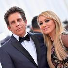 Ben Stiller (L) and Christine Taylor attend the