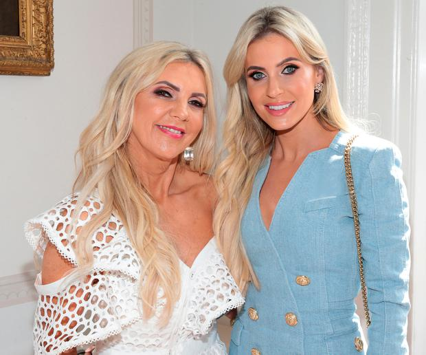 Claudine Keane and her mother Joan Palmer at the annual CARI Charity lunch at the Shelbourne Hotel, Dublin. Picture: Brian McEvoy